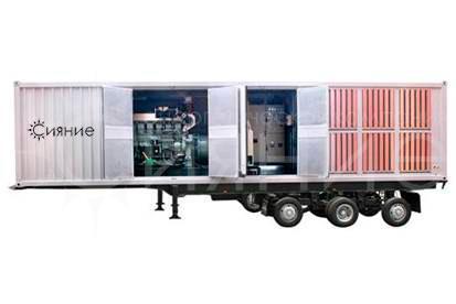 FG Wilson P1500E1. В контейнере. На шасси