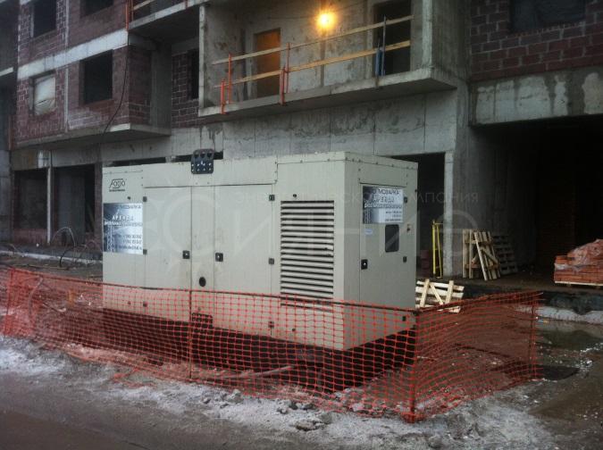 1500 кВа дизельных электростанций в аренду на строительный объект ЖК LIFE-Приморский в г. Санкт-Петербург