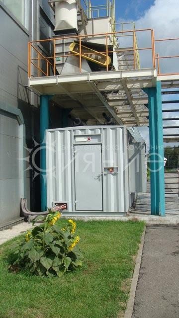 Резервная электростанция для энергоснабжения покрасочного цеха ООО «ДОНХИ РУС»
